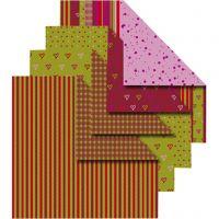 UDGÅET - Origamipapir, 50 ass. ark/ 1 pk.
