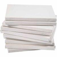 Malerlærred, dybde 1,6 cm, A5, str. 14,8x21 cm, 280 g, hvid, 80 stk./ 1 pk.