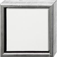 ArtistLine Canvas med ramme, dybde 3 cm, str. 19x19 cm, antik sølv, hvid, 1 stk.