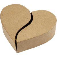 Hjerteæske, H: 5 cm, diam. 16,5 cm, 1 stk.