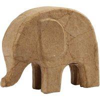 Elefant, H: 14 cm, L: 17 cm, 1 stk.