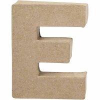 Bogstav, E, H: 10 cm, B: 7,5 cm, tykkelse 1,7 cm, 1 stk.