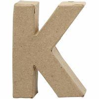 Bogstav, K, H: 10 cm, B: 7,7 cm, tykkelse 1,7 cm, 1 stk.