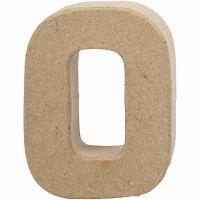 Bogstav, O, H: 10 cm, B: 7,8 cm, tykkelse 1,7 cm, 1 stk.