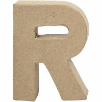 Bogstav, R, H: 10 cm, B: 7,5 cm, tykkelse 1,7 cm, 1 stk.