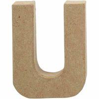 Bogstav, U, H: 10 cm, B: 8 cm, tykkelse 1,7 cm, 1 stk.