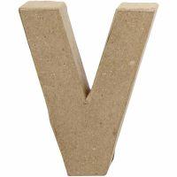 Bogstav, V, H: 10 cm, B: 8 cm, tykkelse 1,7 cm, 1 stk.