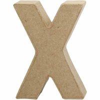 Bogstav, X, H: 10 cm, B: 7,6 cm, tykkelse 1,7 cm, 1 stk.