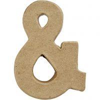 Tegn, &, H: 10 cm, B: 7,5 cm, tykkelse 1,7 cm, 1 stk.