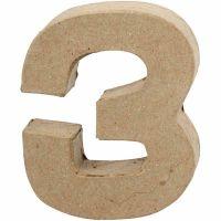 Tal, 3, H: 10 cm, B: 8 cm, tykkelse 1,7 cm, 1 stk.