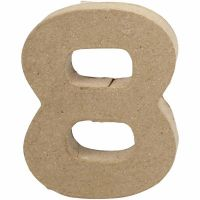 Tal, 8, H: 10 cm, B: 7,6 cm, tykkelse 1,7 cm, 1 stk.