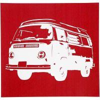 Screen stencil, bus, 20x22 cm, 1 ark