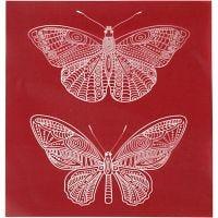 Screen stencil, sommerfugl, 20x22 cm, 1 ark