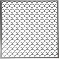 Stencil, bølger, str. 30,5x30,5 cm, tykkelse 0,31 mm, 1 ark