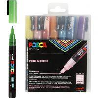 Posca Tusch, nr. PC-3ML, streg 0,9-1,3 mm, glitterfarver, 8 stk./ 1 pk.
