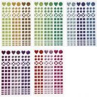 Stickers til mosaik, diam. 8-14 mm, 11x16,5 cm, ass. farver, 10 ark/ 1 pk.