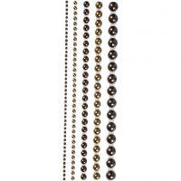 Halv-perler, str. 2-8 mm, brun, 140 stk./ 1 pk.