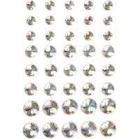 Rhinsten, str. 6+8+10 mm, krystal, 40 stk./ 1 pk.