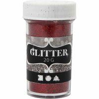 Glitter, rød, 20 g/ 1 ds.