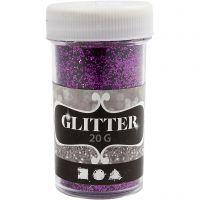 Glitter, lilla, 20 g/ 1 ds.