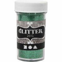 Glitter, grøn, 20 g/ 1 ds.
