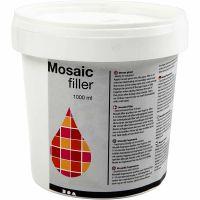 Mosaikfiller, hvid, 1000 ml/ 1 spand