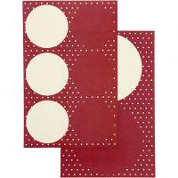 Stickers, diam. 4+6,5 cm, 9x14 cm, 4 ass. ark/ 1 pk.