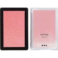 Stempelpude, H: 2 cm, str. 9x6 cm, lys rosa, 1 stk.