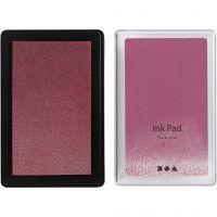 Stempelpude, H: 2 cm, str. 9x6 cm, mørk rosa, 1 stk.