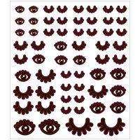 Stickers, øjne, 15x16,5 cm, 1 ark