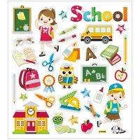 Stickers, skoleliv, 15x16,5 cm, 1 ark