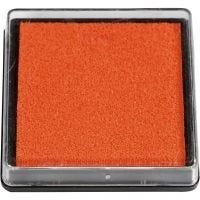 Stempelpude, str. 40x40 mm, orange, 1 stk.