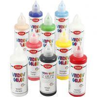Viva Decor Window Color, ass. farver, 10x90 ml/ 1 pk.
