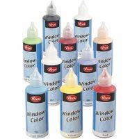 Viva Decor Window Color, ass. farver, 10x80 ml/ 1 pk.