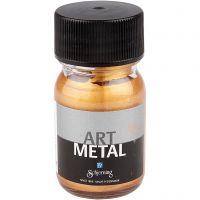 Hobbymaling metallic, mellem guld, 30 ml/ 1 fl.