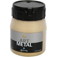 Hobbymaling metallic, lys guld, 250 ml/ 1 fl.