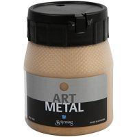 Hobbymaling metallic, mellem guld, 250 ml/ 1 fl.