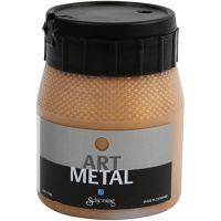 Hobbymaling metallic, mørk guld, 250 ml/ 1 fl.