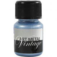 Hobbymaling metallic, perleblå, 30 ml/ 1 fl.