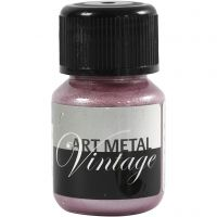Hobbymaling metallic, perlerød, 30 ml/ 1 fl.