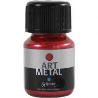 Hobbymaling metallic, lavarød, 30 ml/ 1 fl.