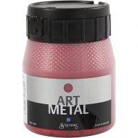 Hobbymaling metallic, lavarød, 250 ml/ 1 fl.