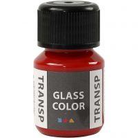 Glass Color Transparent, rød, 30 ml/ 1 fl.
