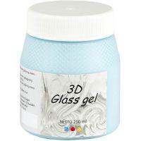 3D Glass gel, azure, 250 ml/ 1 ds.