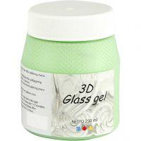 3D Glass gel, grøn, 250 ml/ 1 ds.
