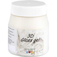 3D Glass gel, elfenben, 250 ml/ 1 ds.