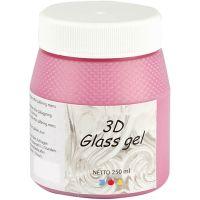 3D Glass gel, pink, 250 ml/ 1 ds.