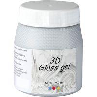 3D Glass gel, sølv, 250 ml/ 1 ds.