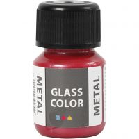 Glass Color Metal, rød, 30 ml/ 1 fl.