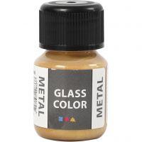 Glass Color Metal, guld, 30 ml/ 1 fl.